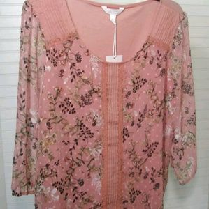 LC Sheer Floral Blouse